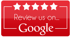 White text and stars on a red background that suggests reviewing Wickenburg Air on Google