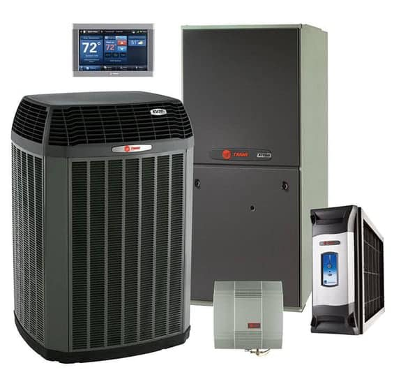 A representative sample of TRANE products